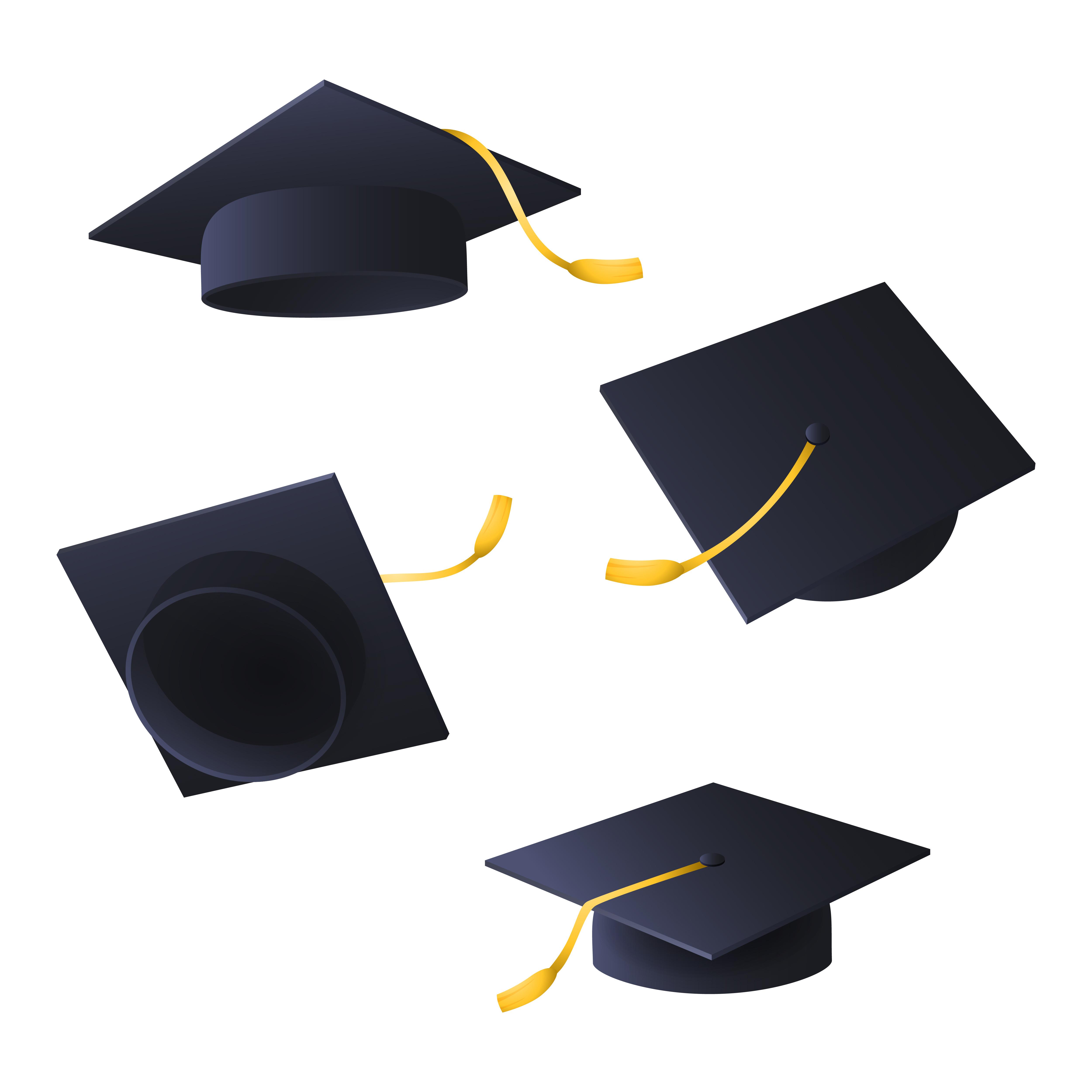 latające czapki absolwentów/Flying graduation caps