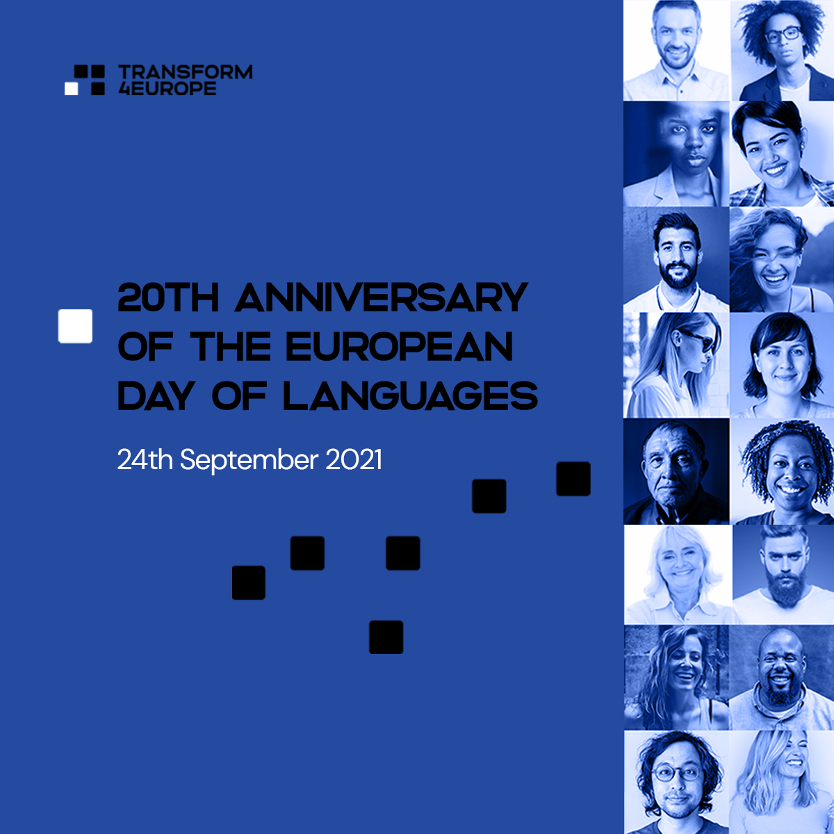 graphic: 20th Anniversary of the European Day of Languages, 24th September 2021