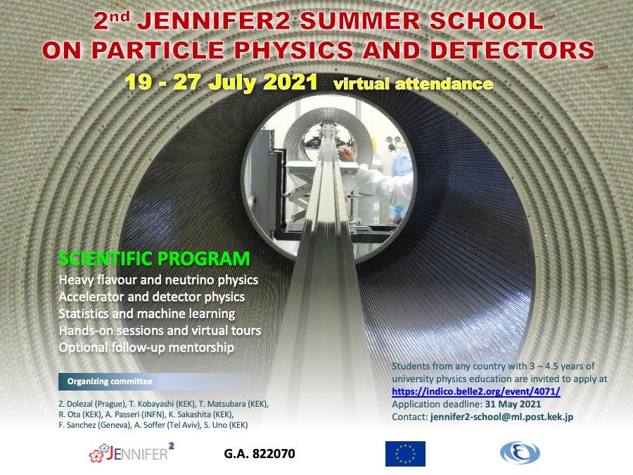 Plakat ze szczegółami dotyczącymi letniej szkoły JENNIFER2.