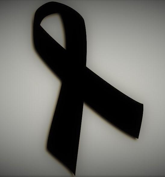 grafika przedstwiająca czarną wstążkę żałobną