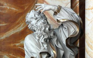 Rzeźba św. Pawła autorstwa Thomasa Weissfeldta z ołtarza głównego w kościele śś. Erazma i Pankracego w Jeleniej Górze, wykonana w latach 1713–1718
