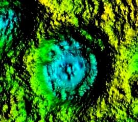 Morfologia dna zbiornika wodnego w leju po koncentrycznej eksplozji przynajmniej dwóch bomb i prawdopodobnym trafieniu niewybuchem (UXB) (cyfrowy model terenu B. Szypuła).