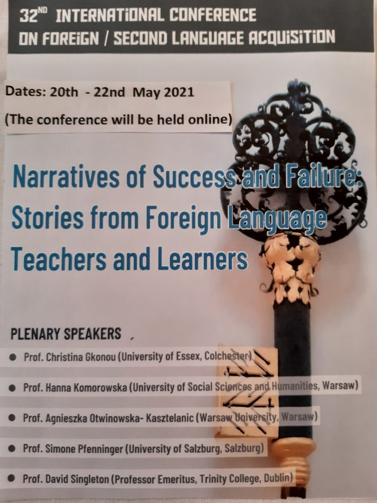32nd International Conference on Foreign / Second Language Acquisition (online)
