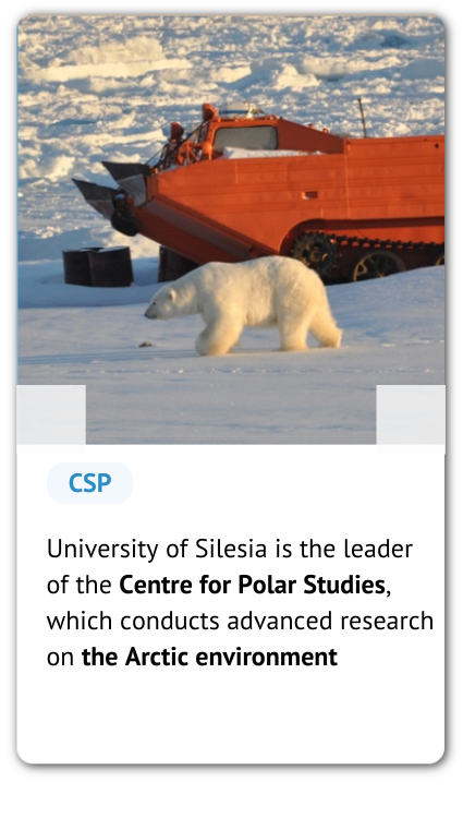 A bear and a phrase: University of Silesia is the leader of the Centre for Polar Studies, which conducts advanced research on the Arctic environment.