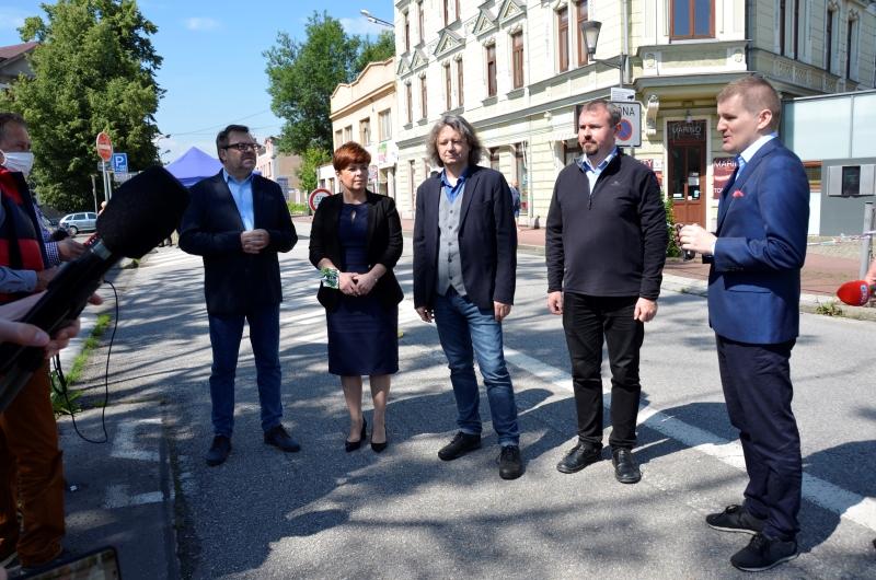Uczestnicy konferencji prasowej w Cieszynie Fot. Urząd Miejski w Cieszynie