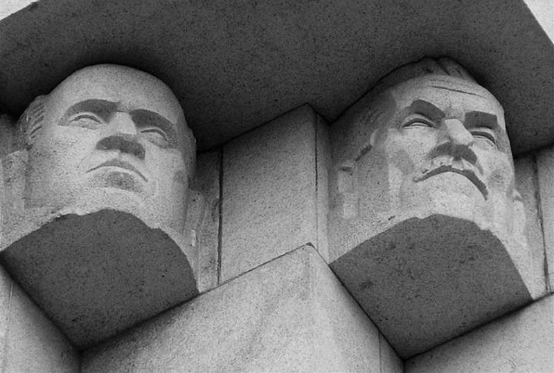 Głowa męska, pomnik Czynu Powstańczego