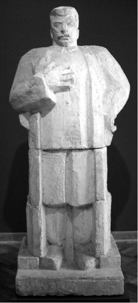 Projekt pomnika Józefa Stalina, model posągu