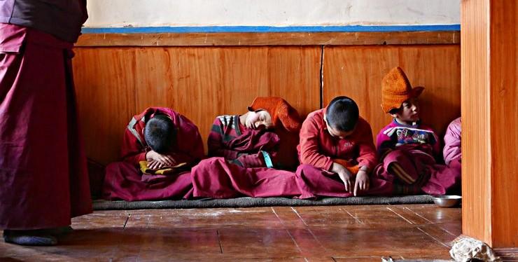 Czterech młodych mnichów buddyjskich