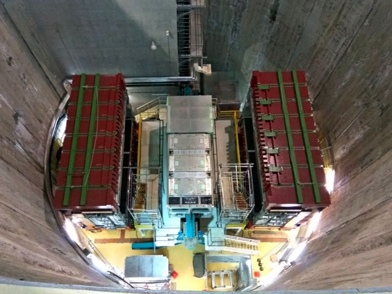 Wnętrze jednego z detektorów