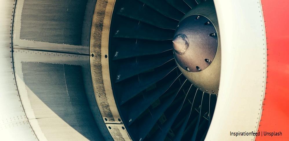 Fragment silnika samolotu