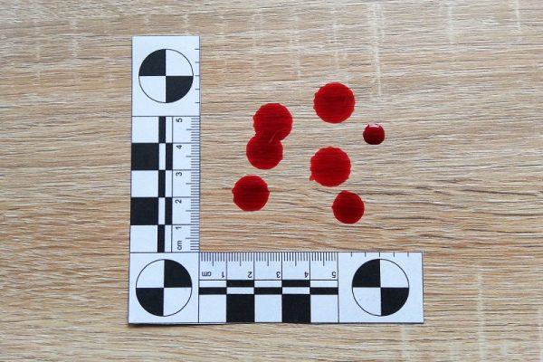 ślady krwawe