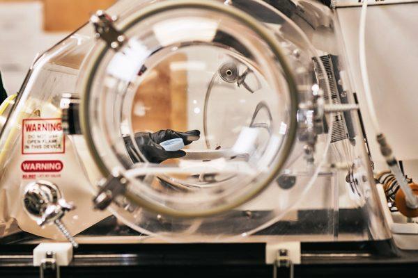 Fragment przyrządu w laboratorium