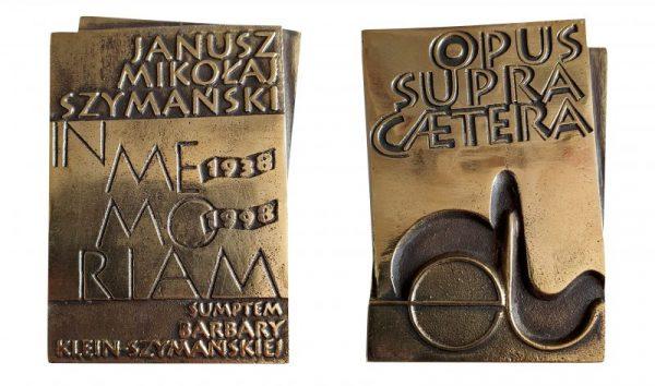 zdjęcie Medalu Pamiątkowego im. Janusza Mikołaja Szymańskiego