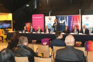 Uczestnicy konferencji prasowej dot. Śląskiego Festiwalu Nauki KATOWICE