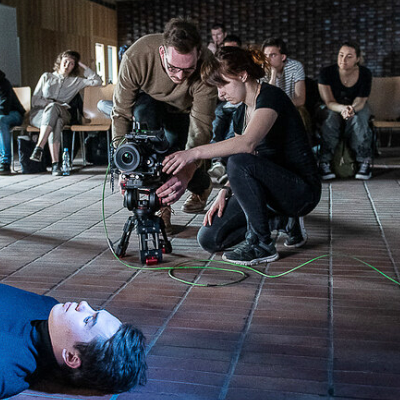 Filmowcy na planie filmowym