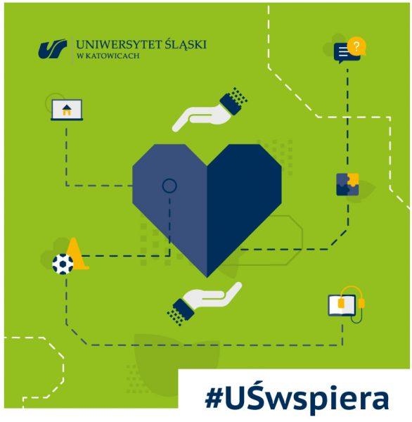 Grafika akcji #UŚwspiera