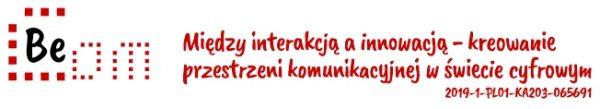 """Logo projektu """"Między interakcją a innowacją – kreowanie przestrzeni komunikacji w świecie cyfrowym"""""""