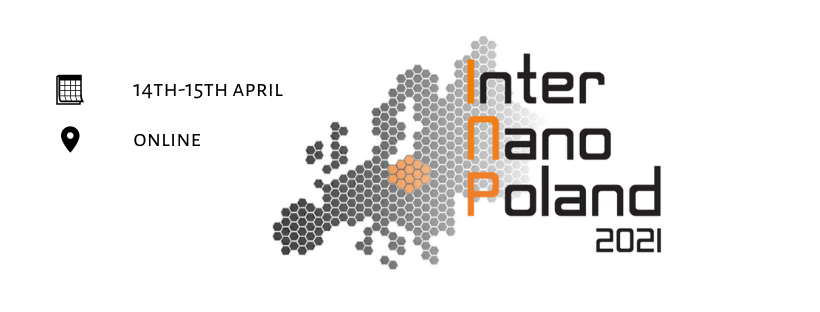 grafika promująca konferencję InterNanoPoland 2021/graphic image promoting the conference InterNanoPoland 2021