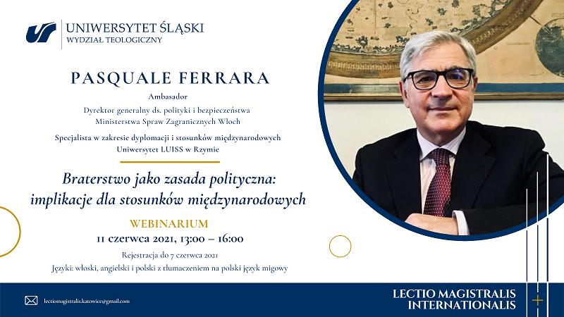 zaproszenie na spotkanie, prof. Pasquale Ferrary