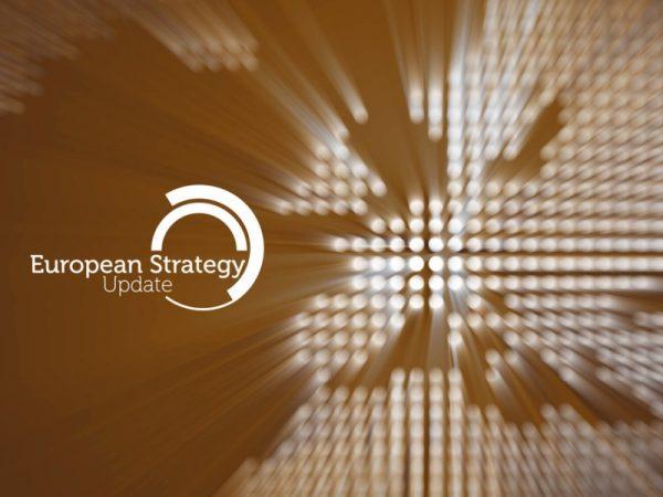 Grafika przedstawiająca kontur Europy oraz napis: European Strategy Update