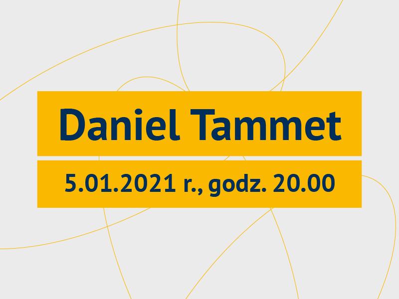 Grafika promująca webinar Daniela Tammeta /Graphics promoting Daniel Tammet's webinar