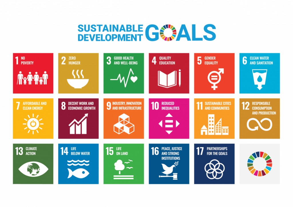 17 Sustainable Development Goals of the UN