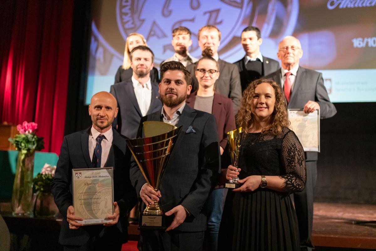Laureaci II miejsca w klasyfikacji generalnej Akademickich Mistrzostw Śląska