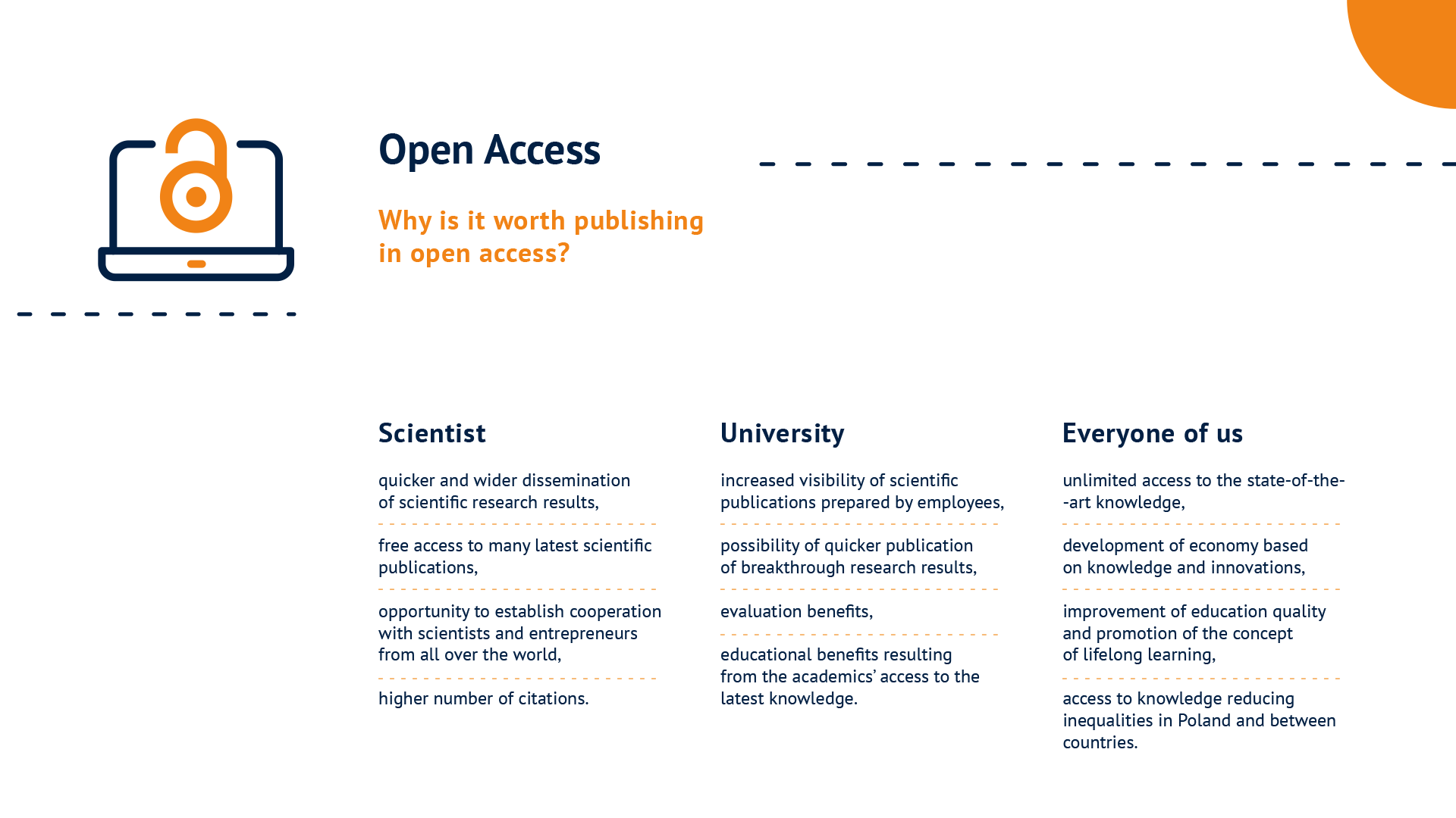 A graphic: Why is it worth publishing in open access – available in PDF format