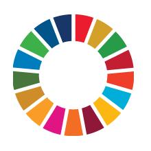 Grafika przestawiająca okrąg złożony z kolorowych kafelków symbolizujących poszczególne zele zrównoważonego rozwoju ONZ