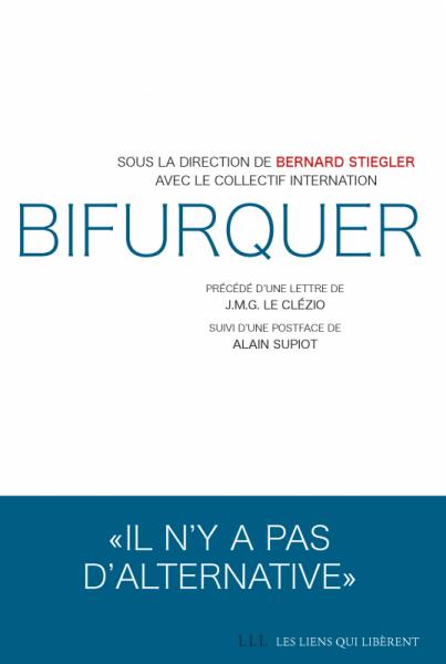 "okładka książki ""Bifurquer"" pod red. Bernarda Stieglera"