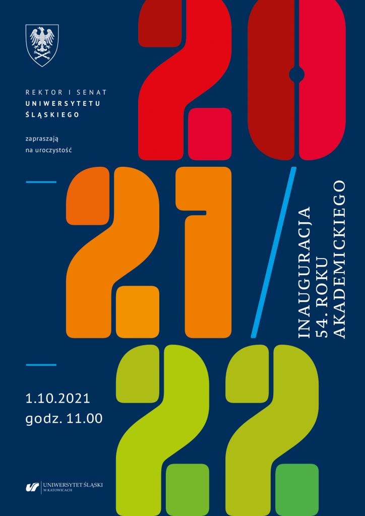 plakat promujący inaugurację 54. roku akademickiego