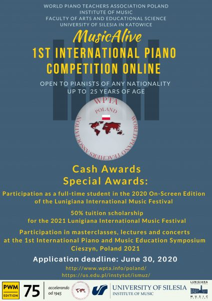1st MusicAlive International Piano Competition Online