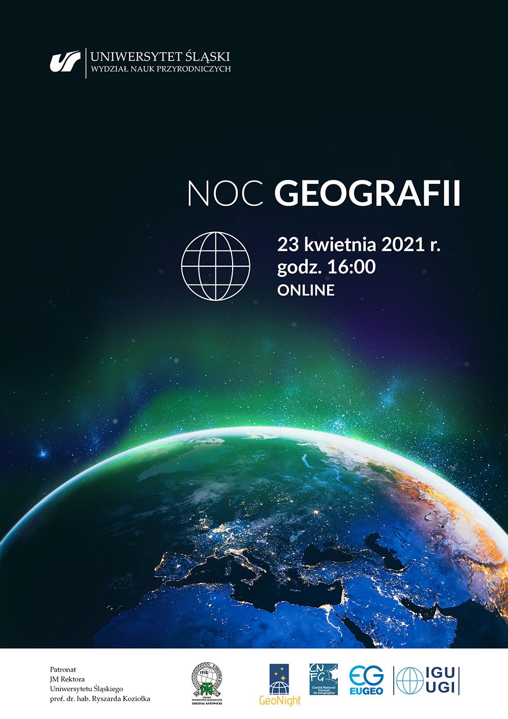 plakat promujący Noc Geografii