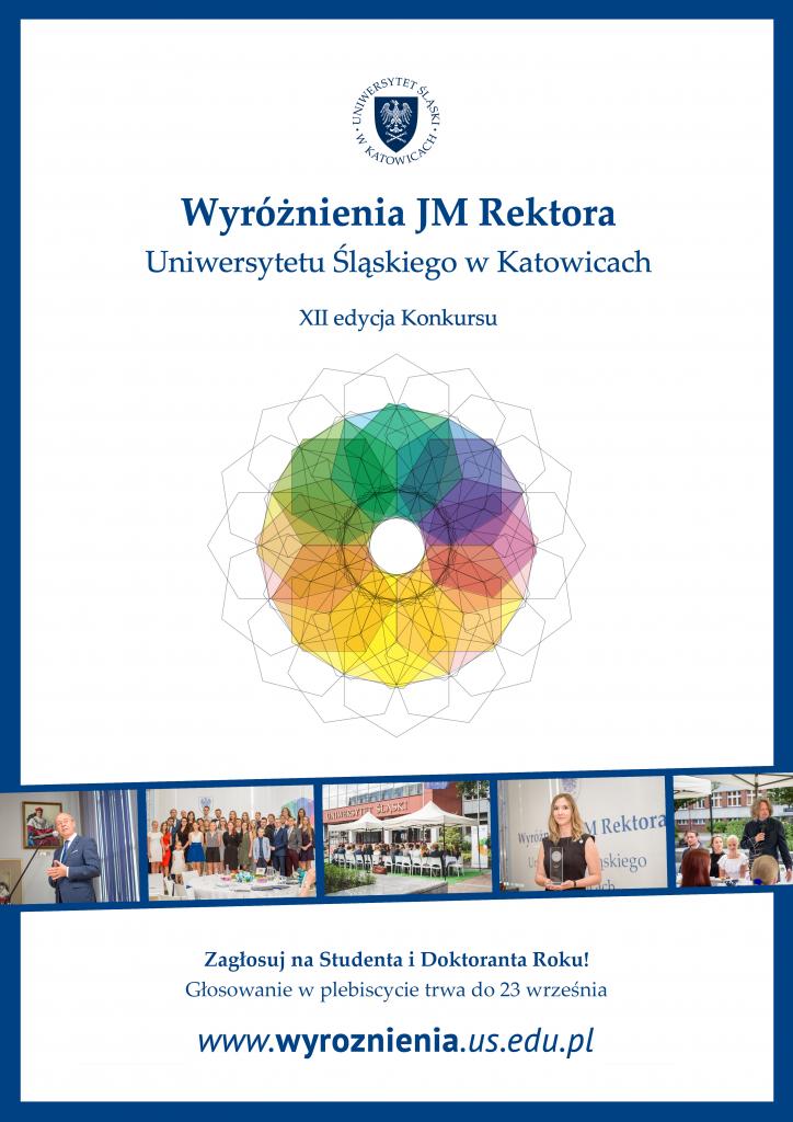 plakat: głosowanie na Studenta i Doktoranta Roku