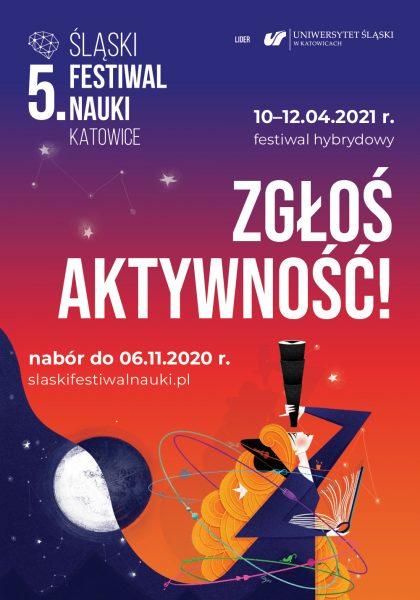 plakat promujący Śląski Festiwal Nauki