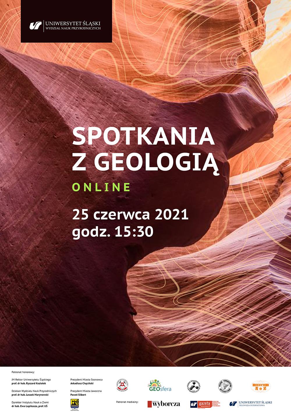plakat promujący Spotkania z Geologią