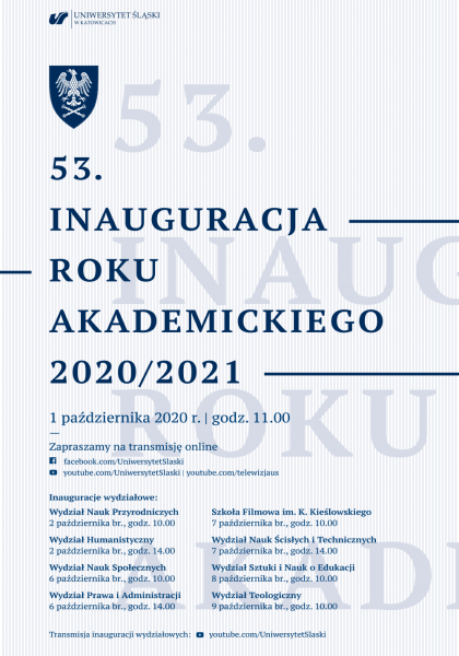 Grafika dotycząca inauguracji roku akademickiego
