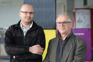 Mgr Łukasz Nicewicz i dr hab. prof. UŚ Mirosław Nakonieczny
