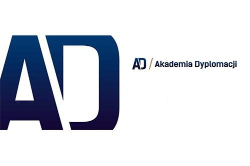 Logo Akademii Dyplomacji UŚ