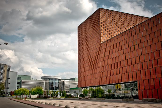 Budynek Centrum Informacji Naukowej i Biblioteki Akademickiej. Fot. Julia Agnieszka Szymala