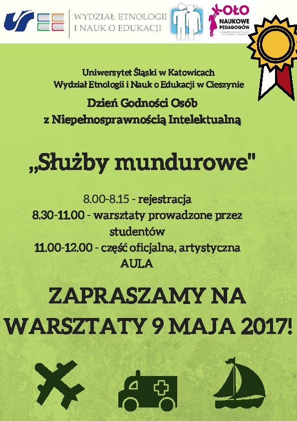 Plakat promujący Dzień Godności Osób z Niepełnosprawnością Intelektualną zawierający program wydarzenia