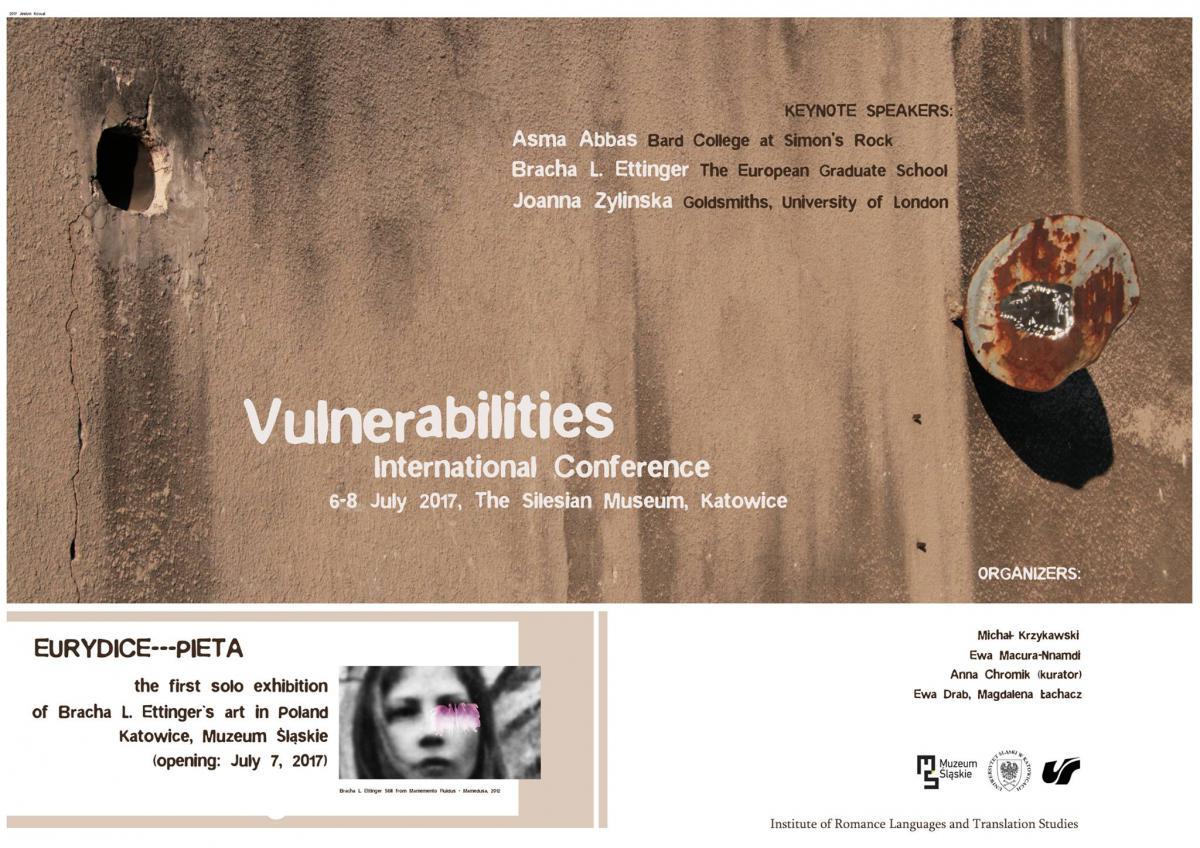 Plakat promujący konferencję, zawierający najważniejsze dane dot. wydarzenia, wszystko w języku angielskim