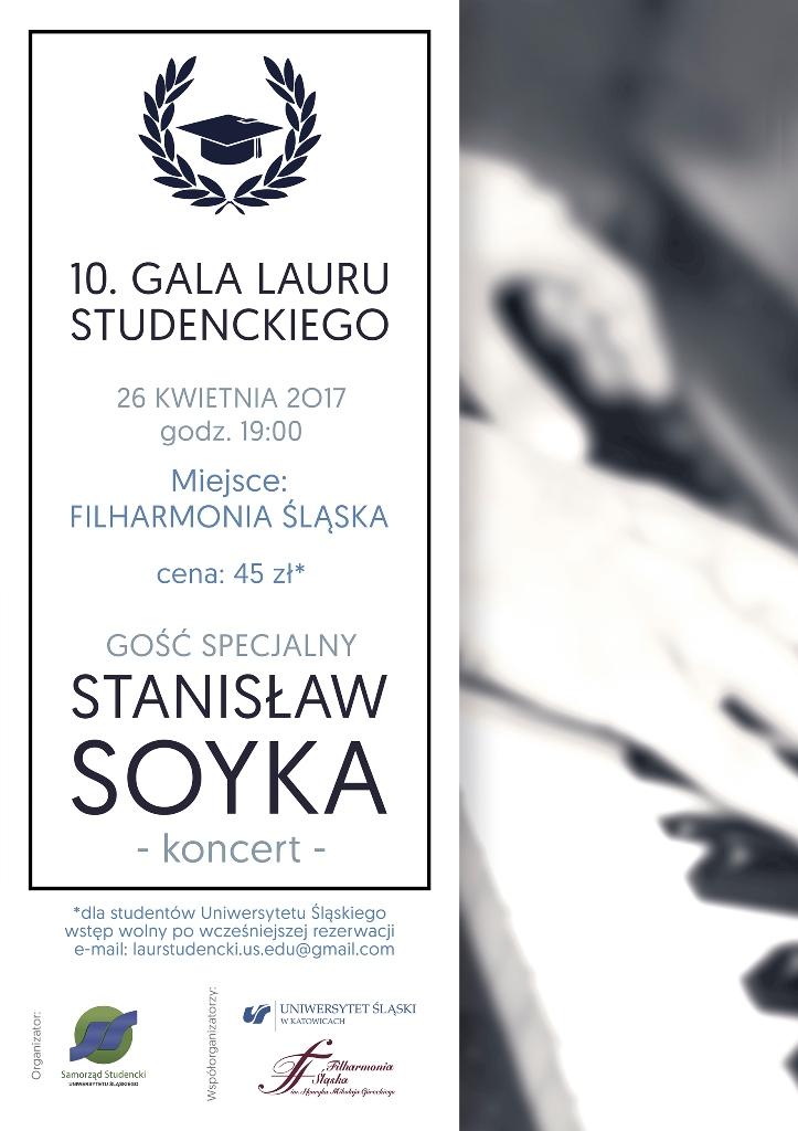 Plakat promujący galę
