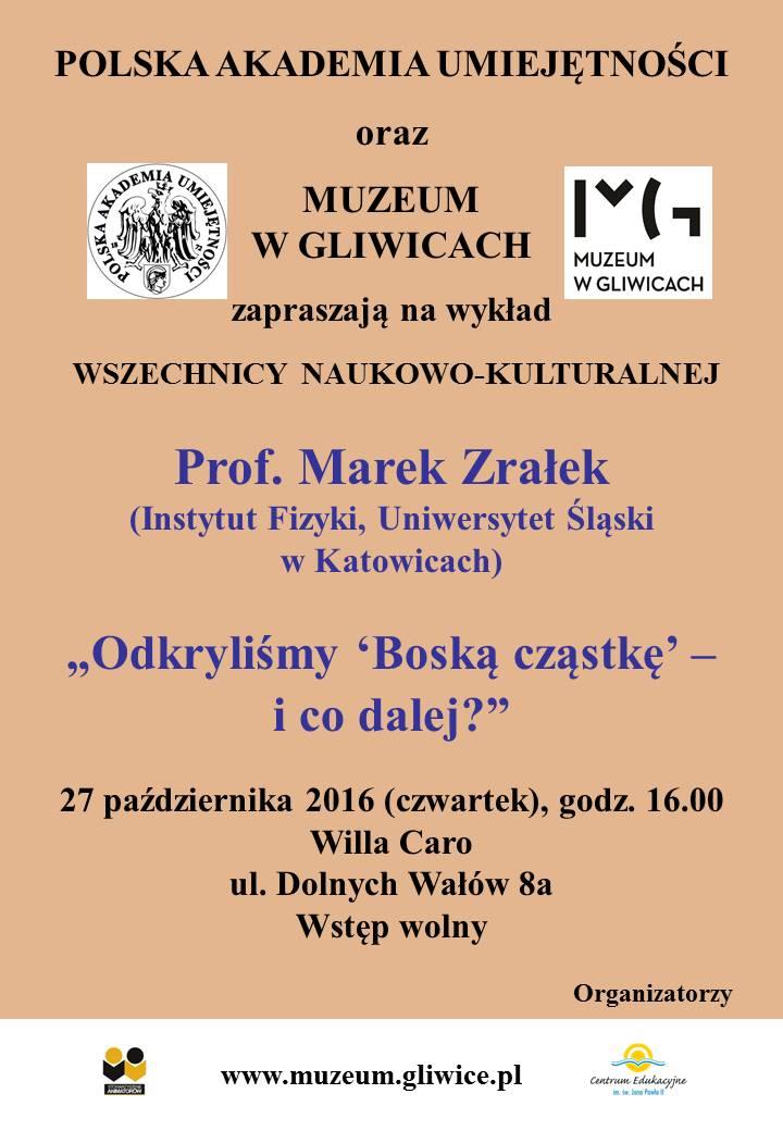 Plakat zawierający informację o wykładzie