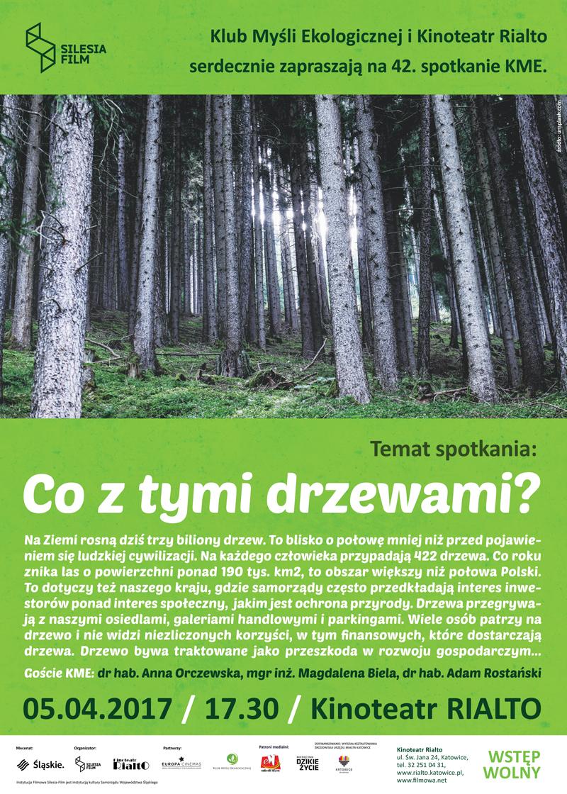 Plakat promujący spotkanie w ramach Klubu Myśli Ekologicznej