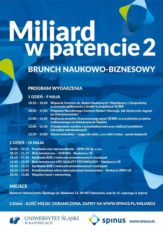 Grafika: plakat zawierający program spotkania