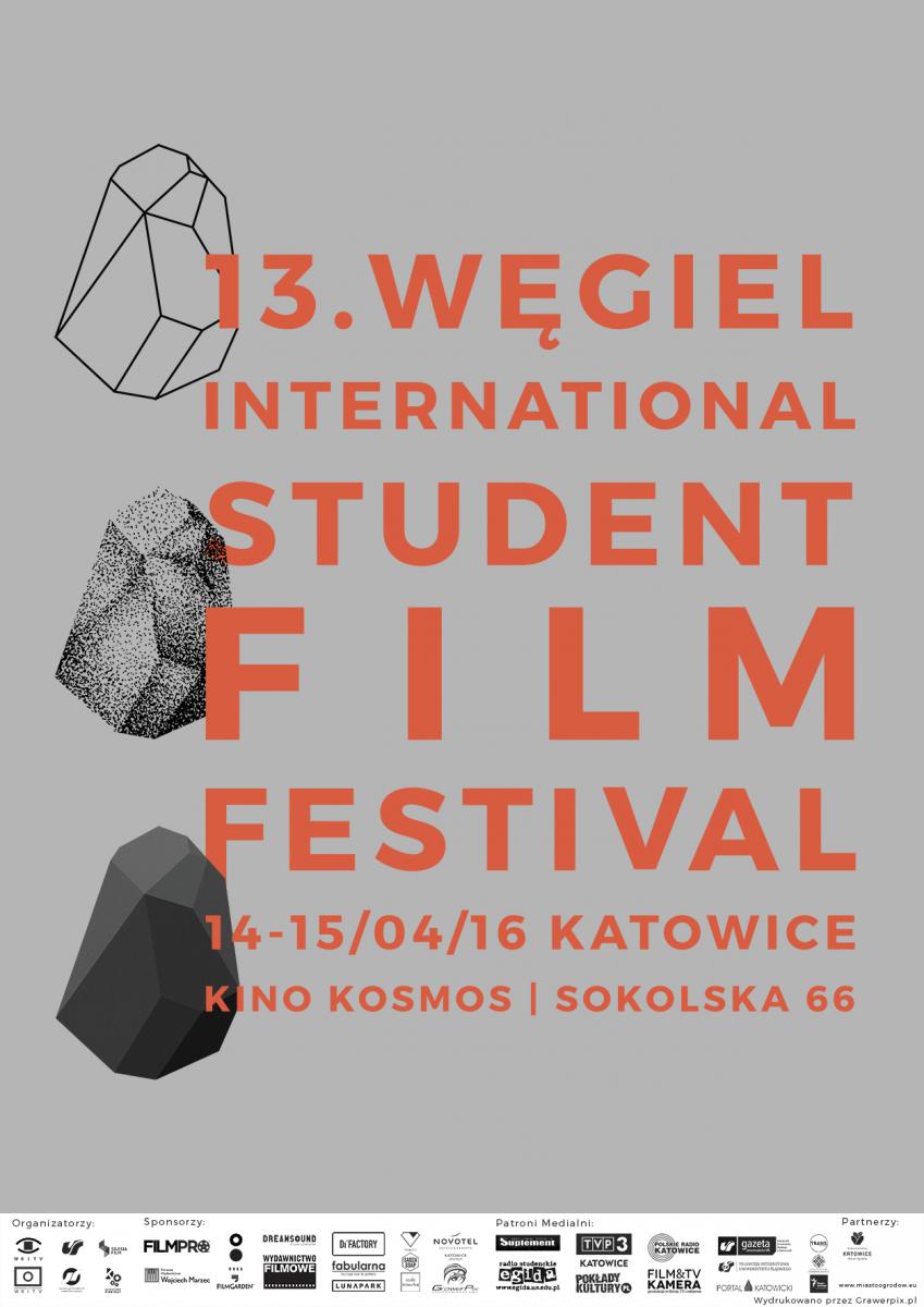 Plakat promujący Węgiel International Student Film Festival
