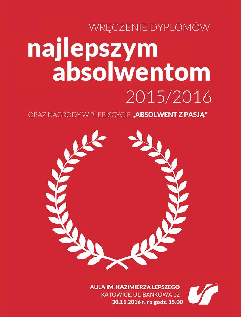 Plakat promujący uroczystość wręczenia dyplomów najlepszym absolwentom