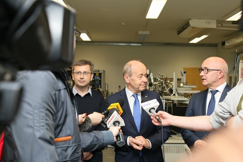 Briefing prasowy: prof. Marian Paluch, rektor prof. Andrzej Kowalczyk oraz prezydent Chorzowa Andrzej Kotala