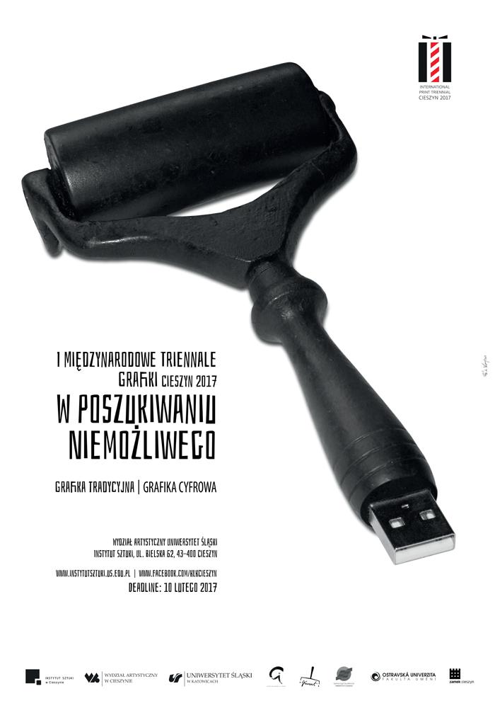 Plakat promujący triennale Cieszyn 2017